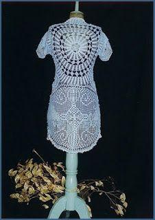 uncinetto moda e fantasia: maglietta in cotone sottile con bordi finali in f...