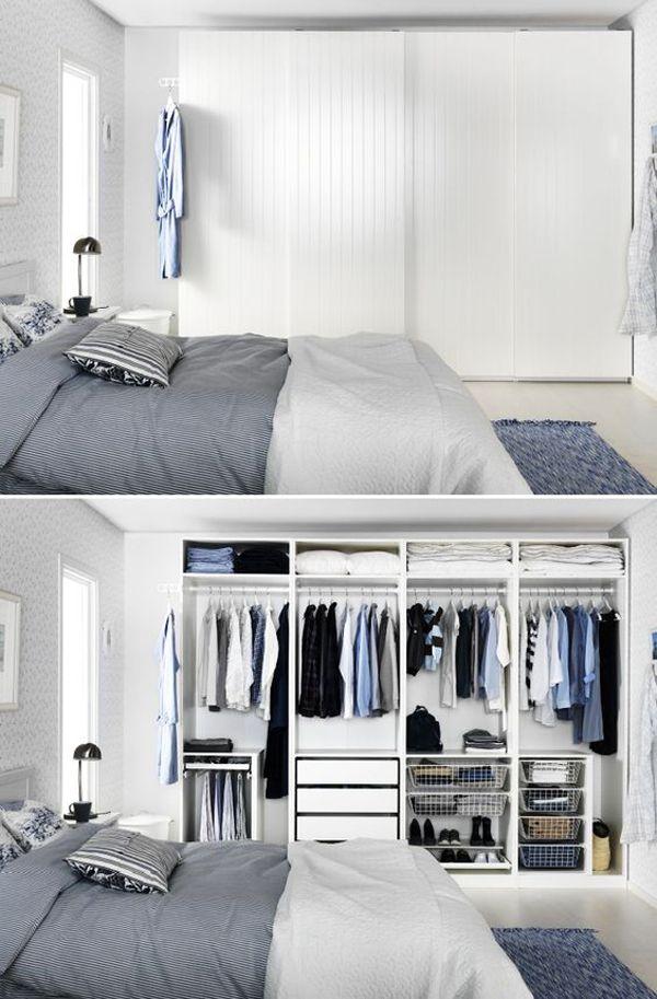10 Hidden Closet Ideas For Small Bedrooms Styles Decor Closet Bedroom Home Bedroom Wardrobe Ikea pax bedroom ideas
