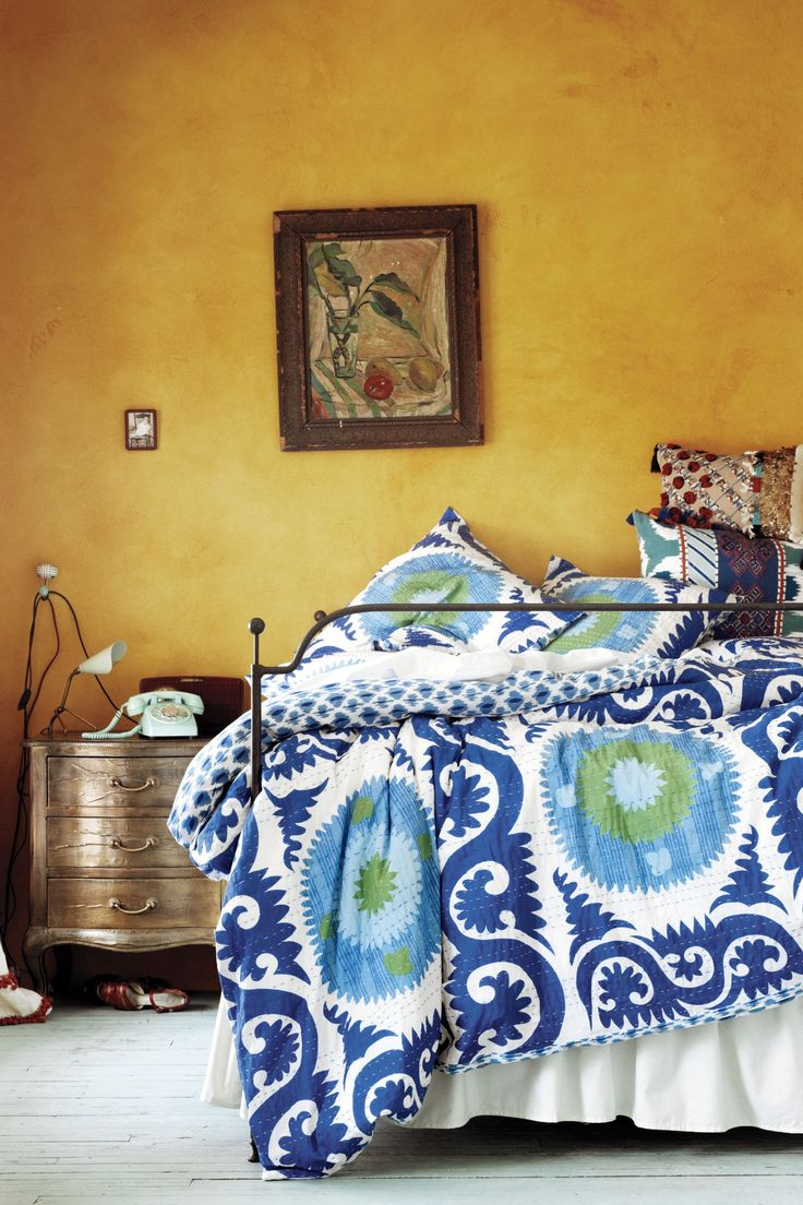 #YalovaDuvet #Anthropologie. Bohemian BedroomsBlue BedroomsAnthropologie  BeddingBedroom Decorating IdeasInterior ...
