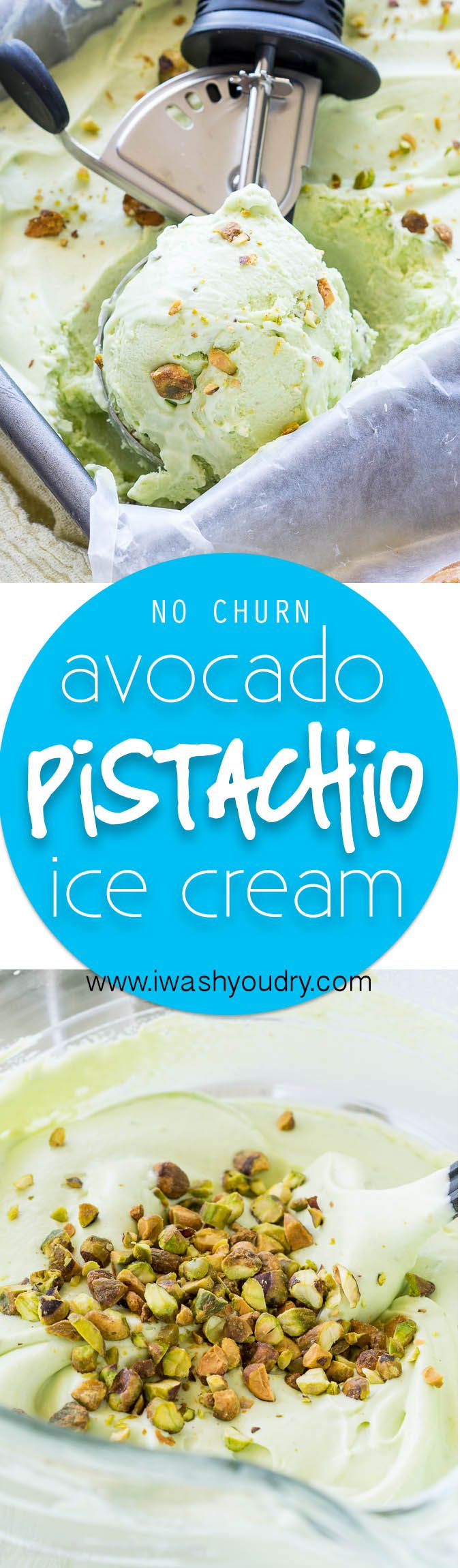 Wow! you can not believe how creamy this NO CHURN Avocado Pistachio Ice Cream is! You can't taste the avocado, it just makes the ice cream extra creamy!