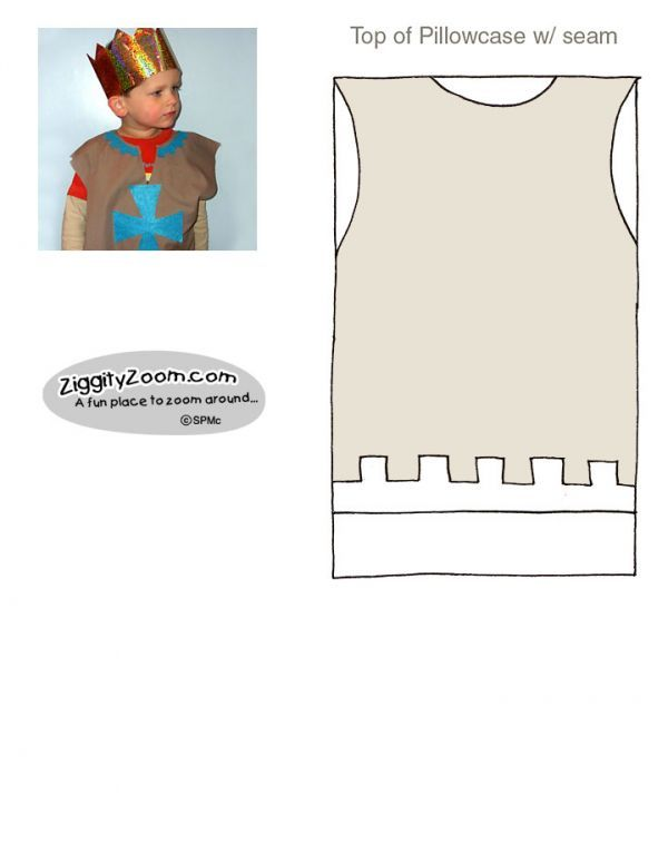 Make a Knight Outfit from a pillowcase