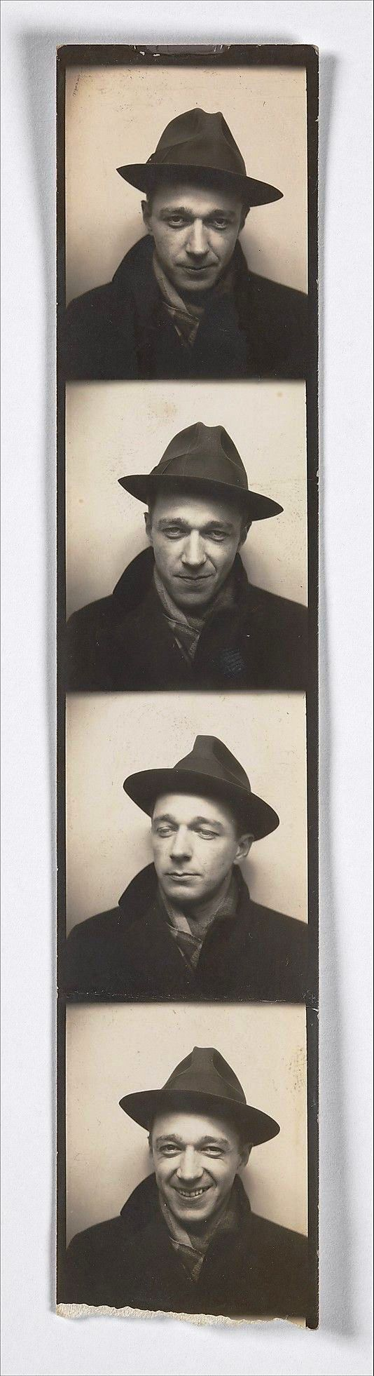 Walker Evans, Self-Portrait in Automated Photobooth, 1930's   -   Metropolitan Museum of Art