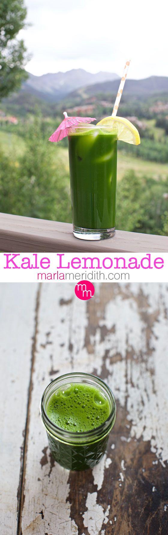 Green Lemonade Juice & Smoothie. The ultimate green drink! MarlaMeridith.com ( @marlameridith )