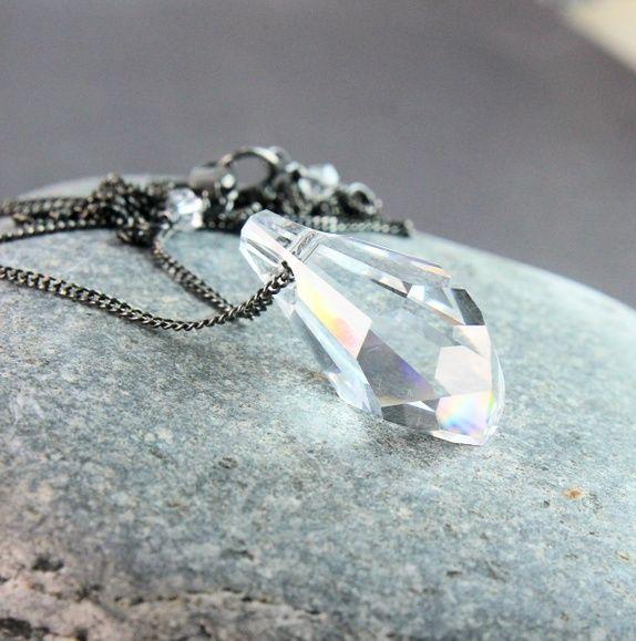 Krystallsmykke -   klar Swarovski