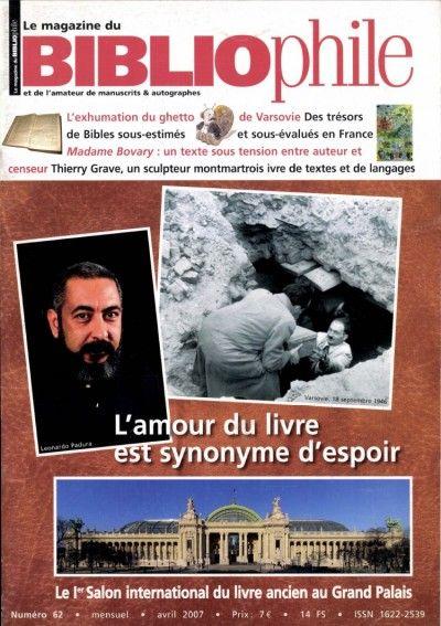 Le Magazine du Bibliophile #62 : L'amour du livre est synonyme d'espoir
