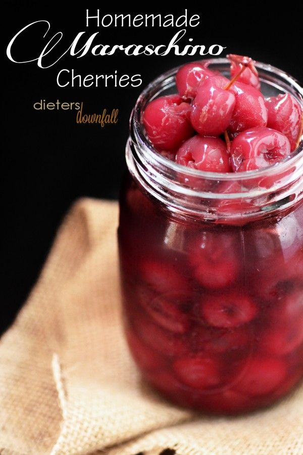 Make your own Maraschino Cherries at home this cherry season! from dietersdownfall,com