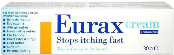 Medicines Eurax Cream X 30g Eurax Cream stops itching fast, works for up to 10 hours.For the relief of itching and skin irritation. Contains active ingrediant Crotamiton 10 ww.Eurax Cream is for the fast relief of itching ampamp http://www.MightGet.com/january-2017-11/medicines-eurax-cream-x-30g.asp