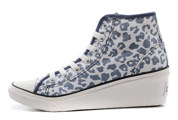 converse sale - Blauw Vrouwen Converse Hi-ness Platform Plus Leopard Print Chuck Taylor All Star High Tops Sneakers