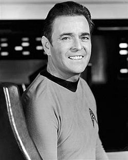 """Lovely picture of James Doohan, """"Montgomery Scott"""". Season 3 hairstyle."""