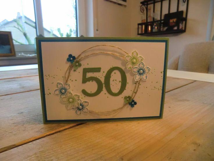 63 besten geburtstagskarten eigene werke bilder auf pinterest aufpr gungen geburtstage und - Pinterest 50 geburtstag ...