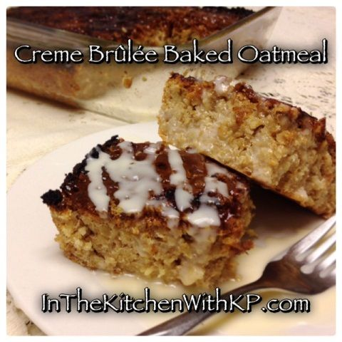 Brunch Creme Brulee oatmeal bake
