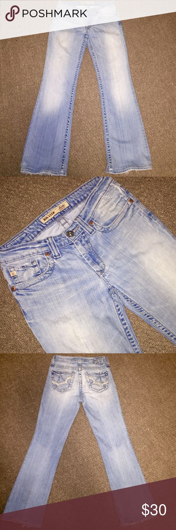 Big Star Maddie Mid-Rise Fit From the Buckle store- Big Star Maddie Mid-Rise Fit Women's Light Wash Designer Jeans in size 26 with an inseam of 30. In really great condition 👍🏻👍🏻🎉 Big Star Jeans Boot Cut