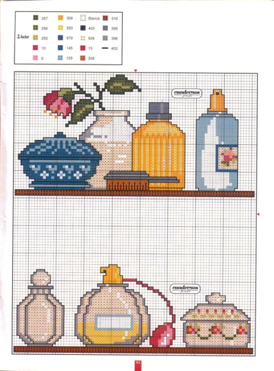 Cross stitch bathroom Patrones y esquemas en punto de cruz