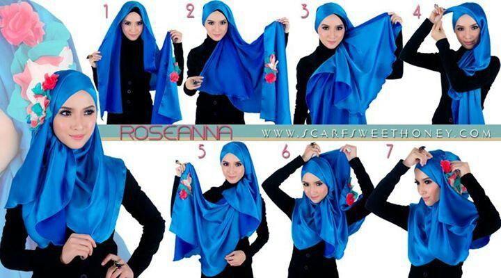 Malaysian Hijab (Tudung ) tutorial by scarf sweet honey
