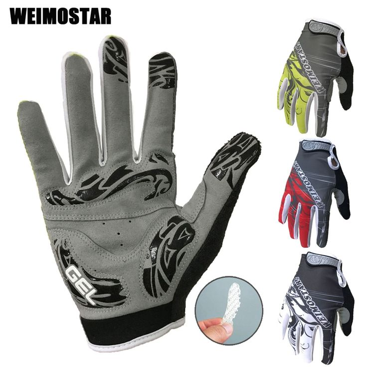 Gel Pro Gloves Profession Costume Full Finger For Man Woman MTB Gloves Guantes Ciclismo BMX DH Off Road Motocross Gloves