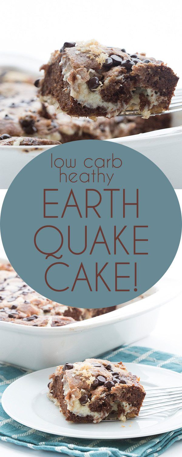 Your new favorite easy low carb chocolate cake recipe. Delicious layers of tende...