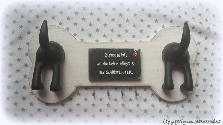 Hund: Leinen - Sonstige - Leinenhalter, Hundegarderobe, Schlüsselbrett - ein Designerstück von Liebesschild bei DaWanda