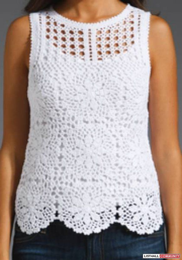 Juicy Couture Crochet Top No pattern; Just an idea!