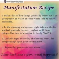 A recipe for manifestation! #classyontheoutside #r…