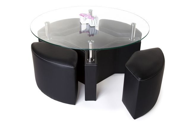 Peking Sofabord Runde Glass - Trademax Pris kr 2995,-