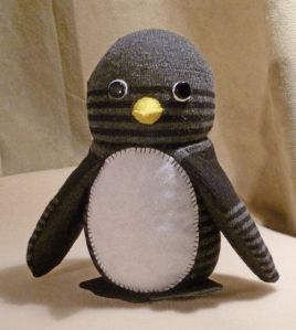 Sock Penguin is WAY cuter than a Sock Monkey...just deal with it!
