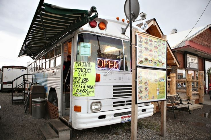 West Yellowstone: Las Palmitas Taco Bus need to check this place out on my upcoming trip