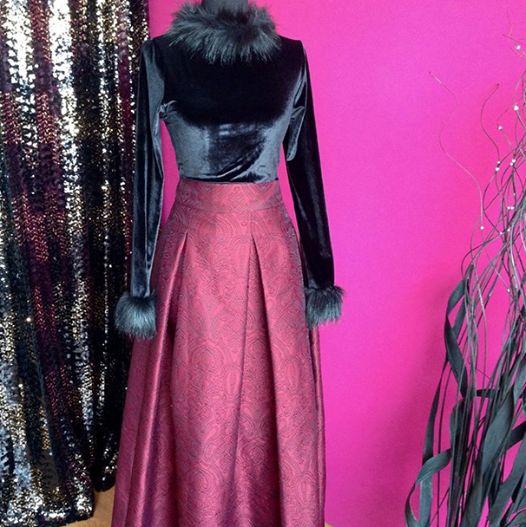 BROKAR ETEK VE KADİFE BLUZUN ASİL GÖRÜNÜMÜ #noorbutiktr #kadife #bluz #bordo #brokar #etek #fashion #fashionlook #hijab #tarz #özel #tasarım