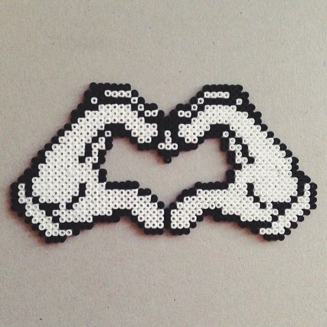 LOVE hama mini beads by michelle_jonsson
