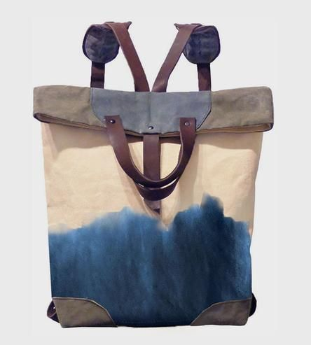 Indigo Waxed Canvas Tote by McLoveBuddy on Scoutmob Shoppe