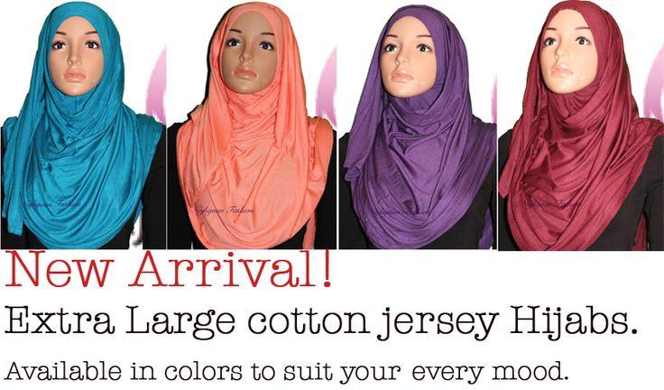 Soft maxi jersey cotton hijab
