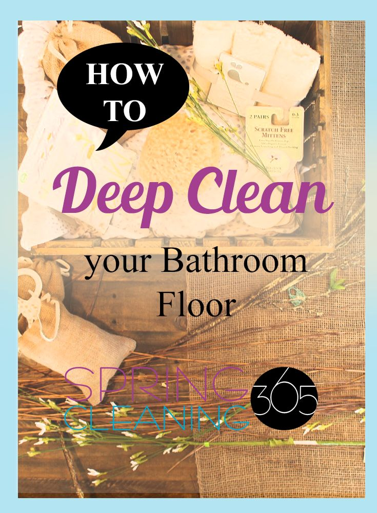 Spring Cleaning Bathroom Floors can be fairly easy if you have the right supplies and action steps. Click through for instructions on how to deep clean the bathroom floor quickly and efficiently!