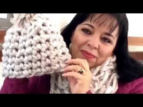 TEJIDO GORRO EN 15 MINS CON EL DEDO - fácil y rápido - Yo tejo con LAURA CEPEDA - YouTube