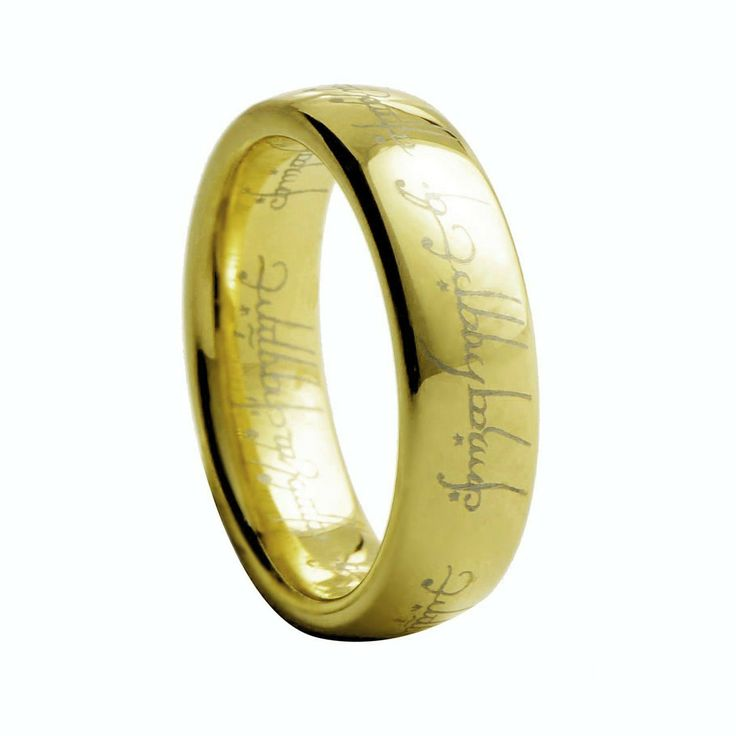 Gold Lord of the Ring Tungsten Ring for Men, $120.00 (http://www.june26.ca/gold-lord-of-the-ring-tungsten-ring-for-men/)