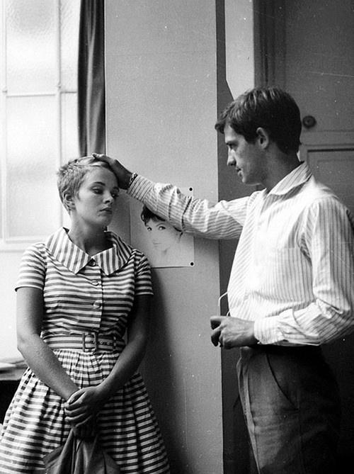 À bout de souffle, Jean-Paul Belmondo and Jean Seberg #1960