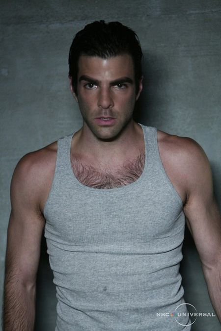 Sylar from Heroes. Yeah he's a serial killer but look at those pecs!