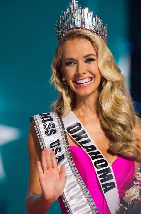 Olivia Jordan, Miss Oklahoma USA 2015, is announced as the winner at the conclusion of the 2015 MISS USA pageant at the Baton Rouge River Center, Baton Rouge, Louisiana, on Sunday, July 12th. She receives the title of Miss USA 2015 and the coveted D.I.C. Crown. Photographer: Darren Decker. Image provided by and copyright © Miss Universe Organization L.P., LLLP, New York, NY.