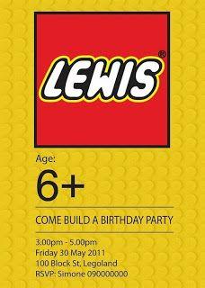 Lego Invites