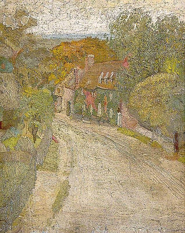 Village Street, Duncan Grant (1885–1978), Charleston