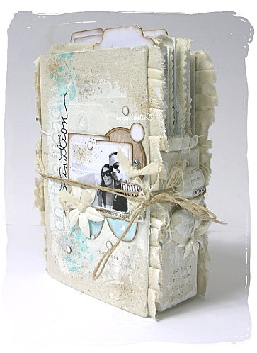 beautiful altered white book#Repin By:Pinterest++ for iPad#