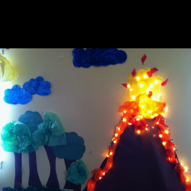 Volcano I made at work for our unit on dinosaurs. ;-)