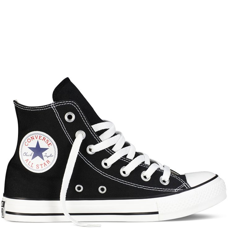 Black and white Converse high tops, these adorable shoes are perfect for your chill and stylish days! Although I have a white pair and a navy blue pair of normal Converse and one army-ish type of high tops Converse, I really want these plain and simple black high tops!