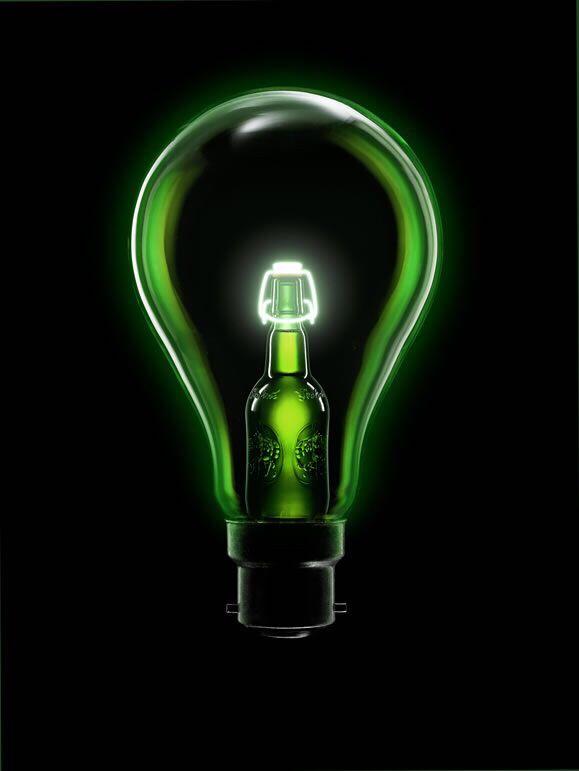 Grolsch lightning bulb - licht gloeilamp