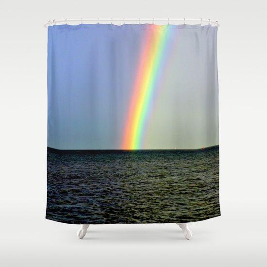 Rainbow, Seascape, Buoys, Horizon, Nature, Sky, Photography. Port Philip Bay, Melbourne, Australia.