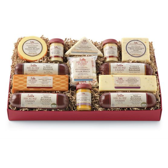 Deluxe Smokehouse Collection Gift Box | Hickory Farms | Food/Recipes | Pinterest | Smokehouse, Gourmet gifts and Sausage