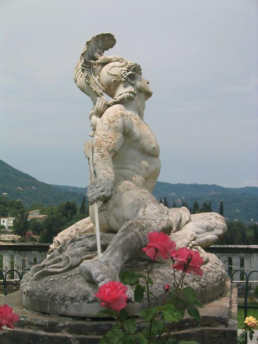 Achilles statue - Corfu - GREECE!