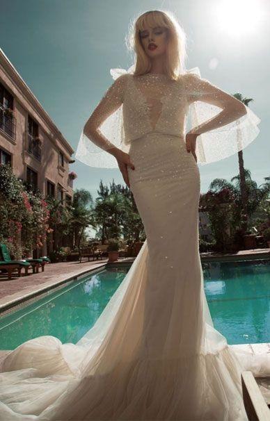 Inbal Dror свадебные платья из органзы и тюля | смотреть фото цены купить