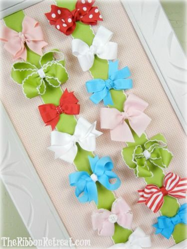 How To Make A Bow Board - {The Ribbon Retreat Blog}