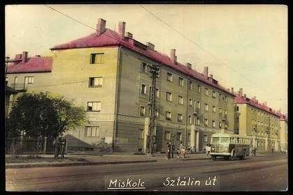 Miskolc Sztálin út | Képeslapok | Hungaricana