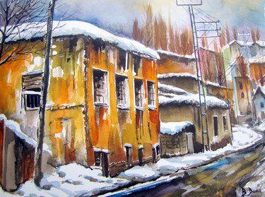 "Saatchi Art Artist Berrin Duma; Painting, ""Winter"" #art"