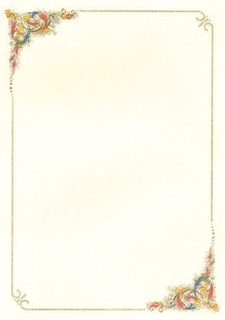 cornici per poesie word | Cornici per pergamena